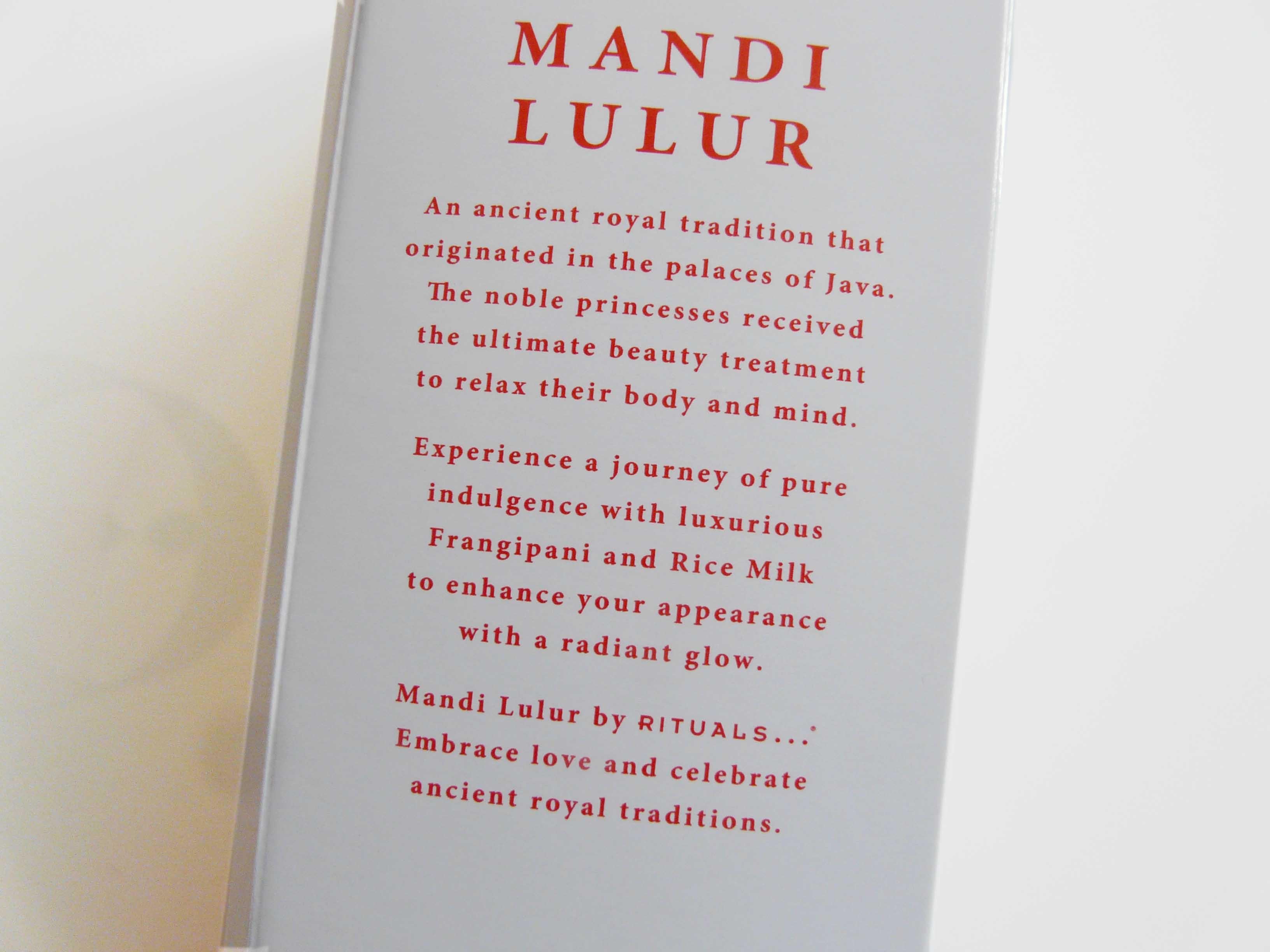 Het verhaal achter Mandi Lulur