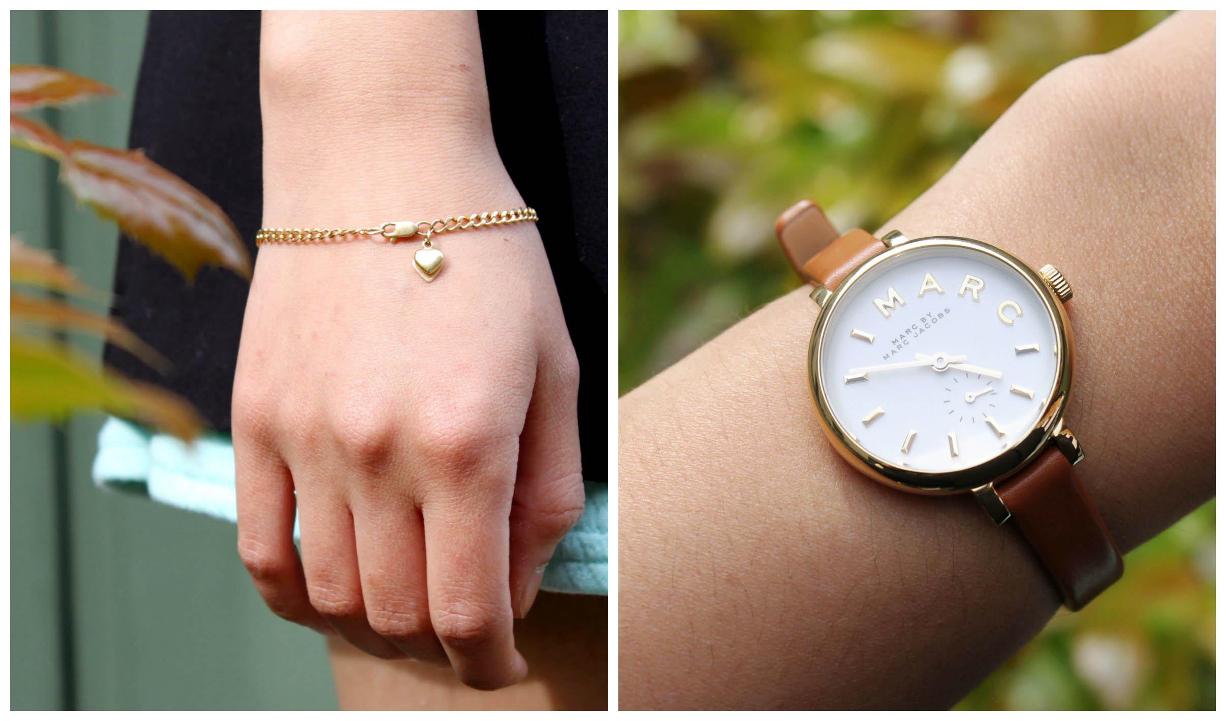 Gouden armbandje, Marc Jacobs horloge