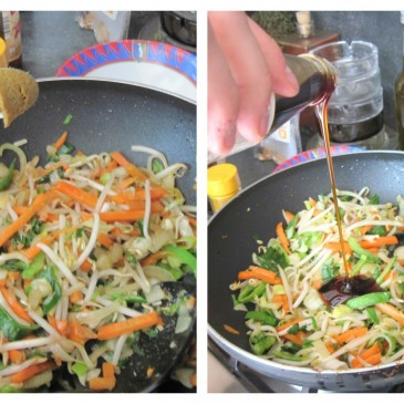 Recept: wok met scampi