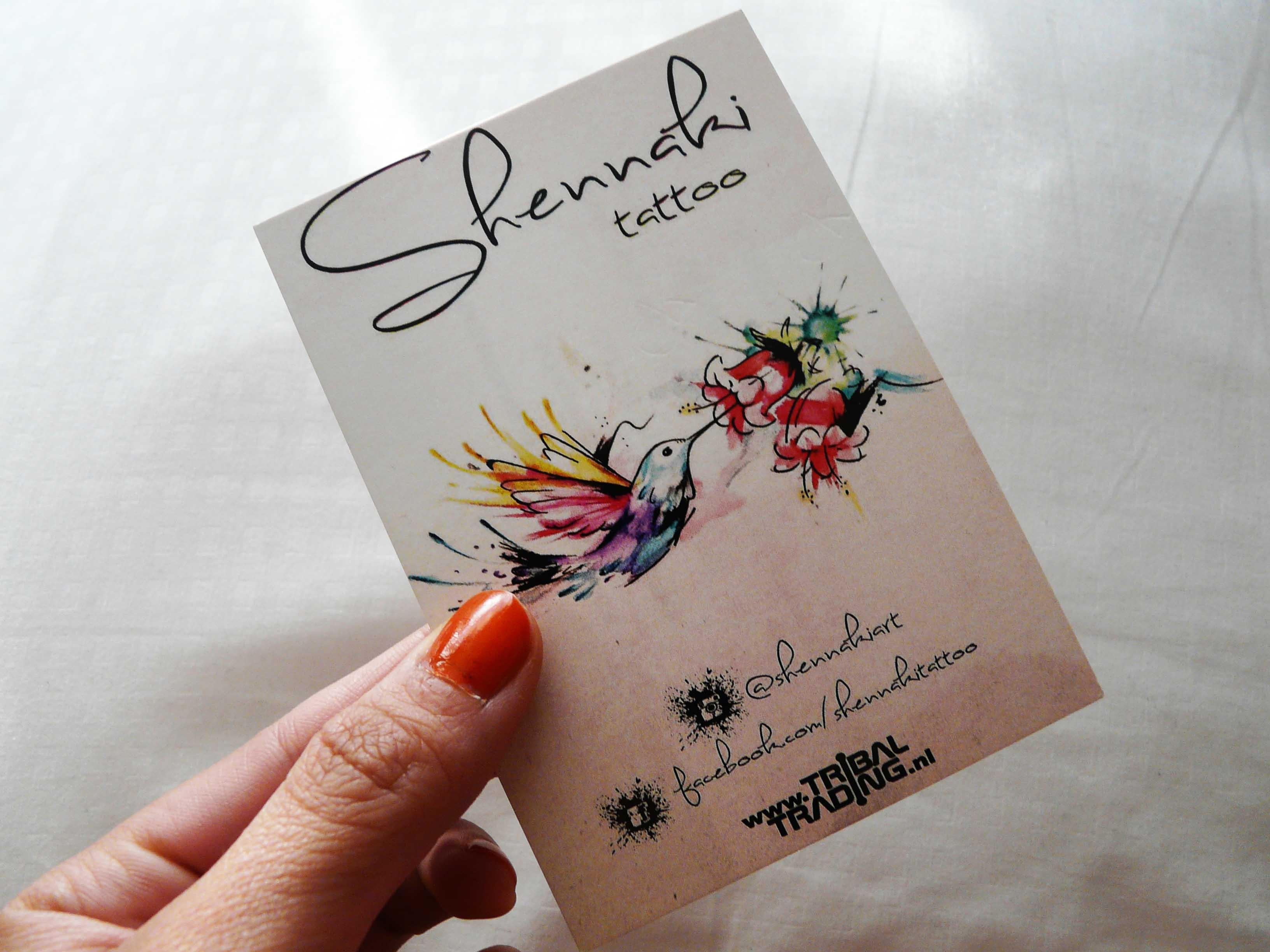 Shennaki's visitekaartje