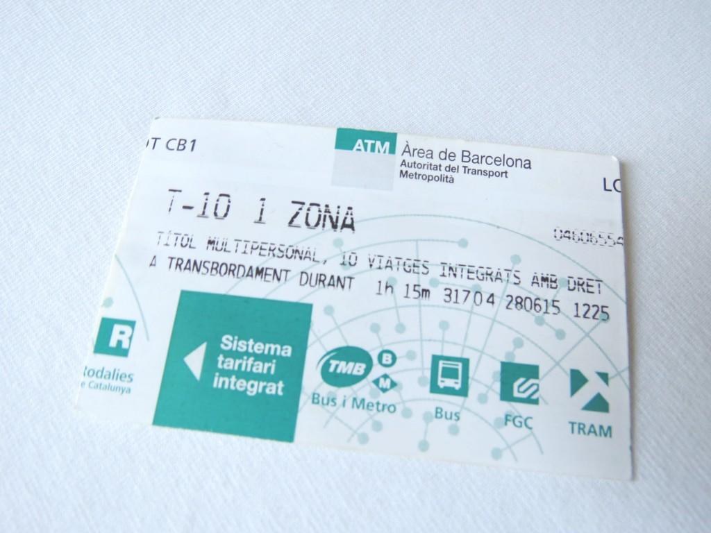 T-10 metrokaartje