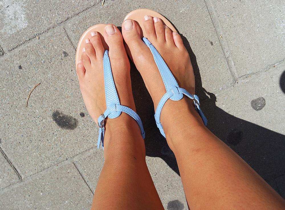 Detail sandaaltjes