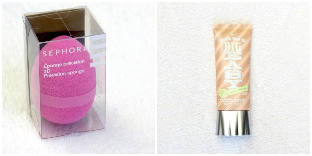 Beauty Blender Sephora (9,99 euro) & Benefit Big  Easy Foundation/BB Cream (38.95 euro)