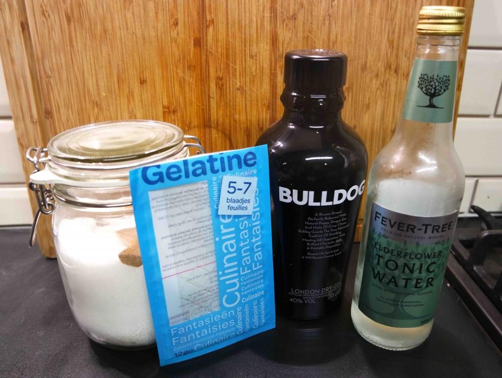 Gin & Tonic jello shots