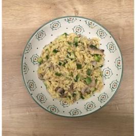 Recept: Orzo met courgette & champignons
