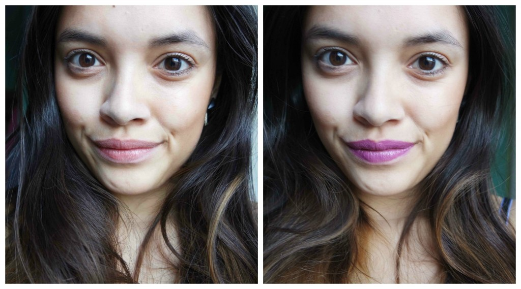 Swatch H&M Cream lip colour Mauveine Queen