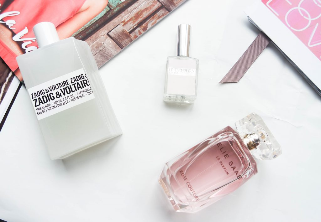 parfum Elie Saab; rose couture, Intimacy, Zadig et Voltaire