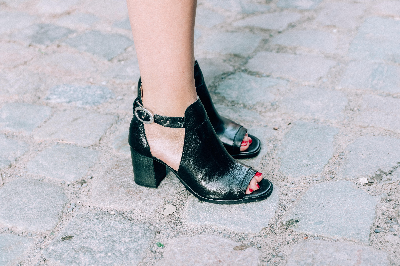 Bent sandalen met hak
