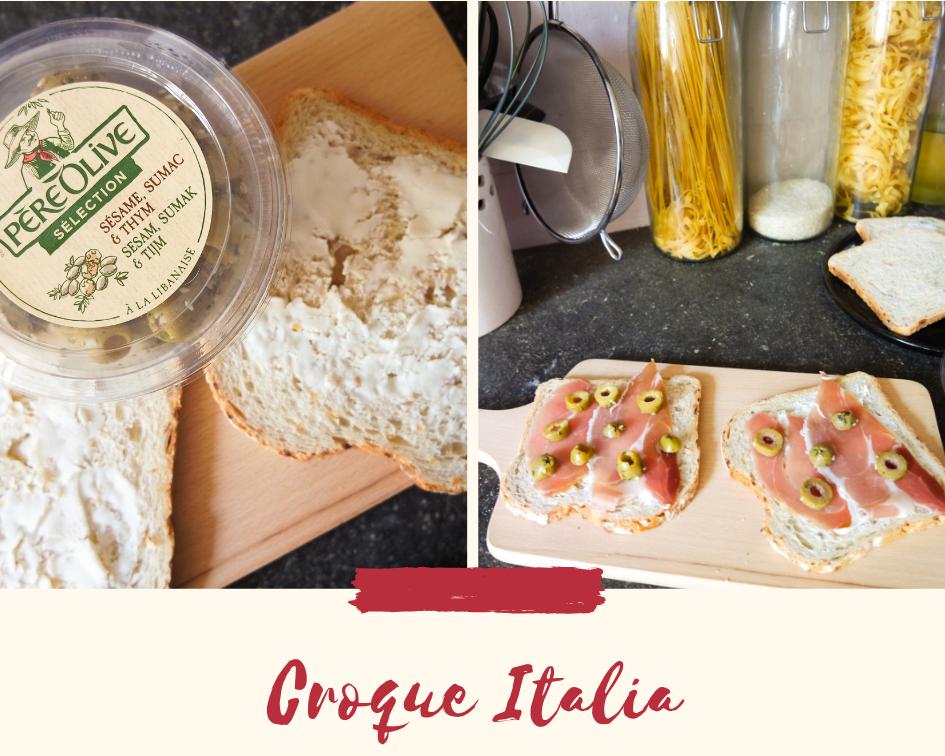 Croque Italiaanse ham