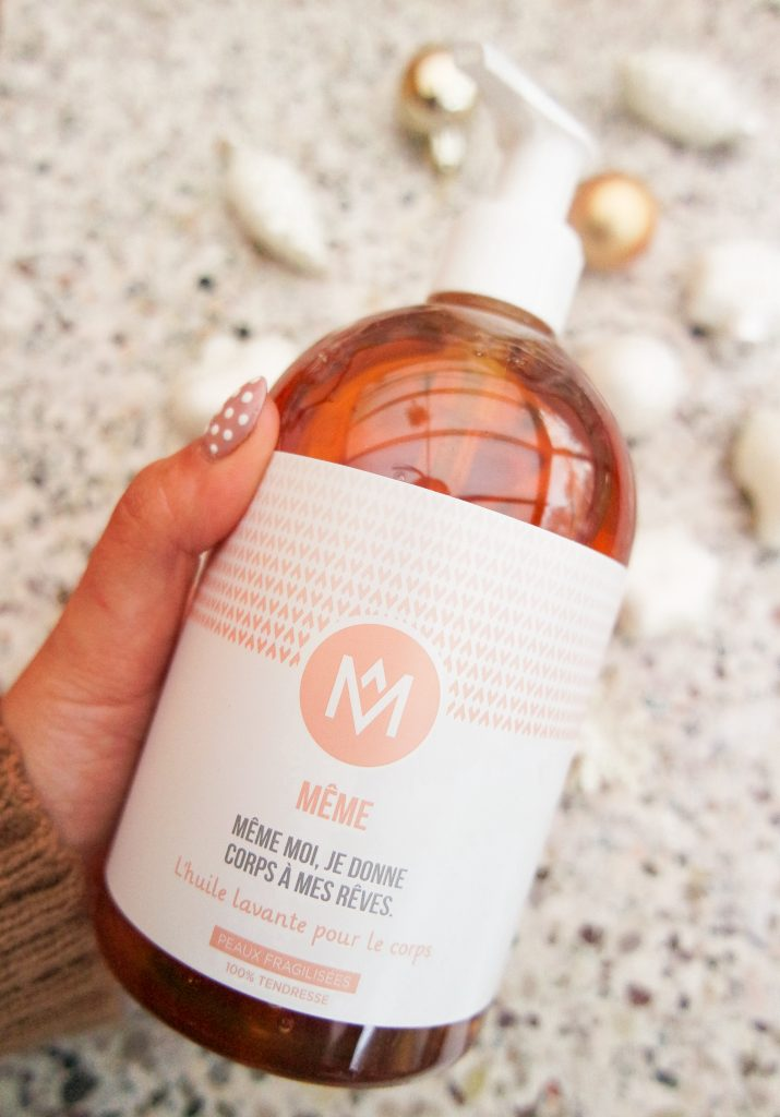 Body cleansing oil MÊME - Voor gevoelige huid , extra droog of wanneer je wordt behandeld met chemo
