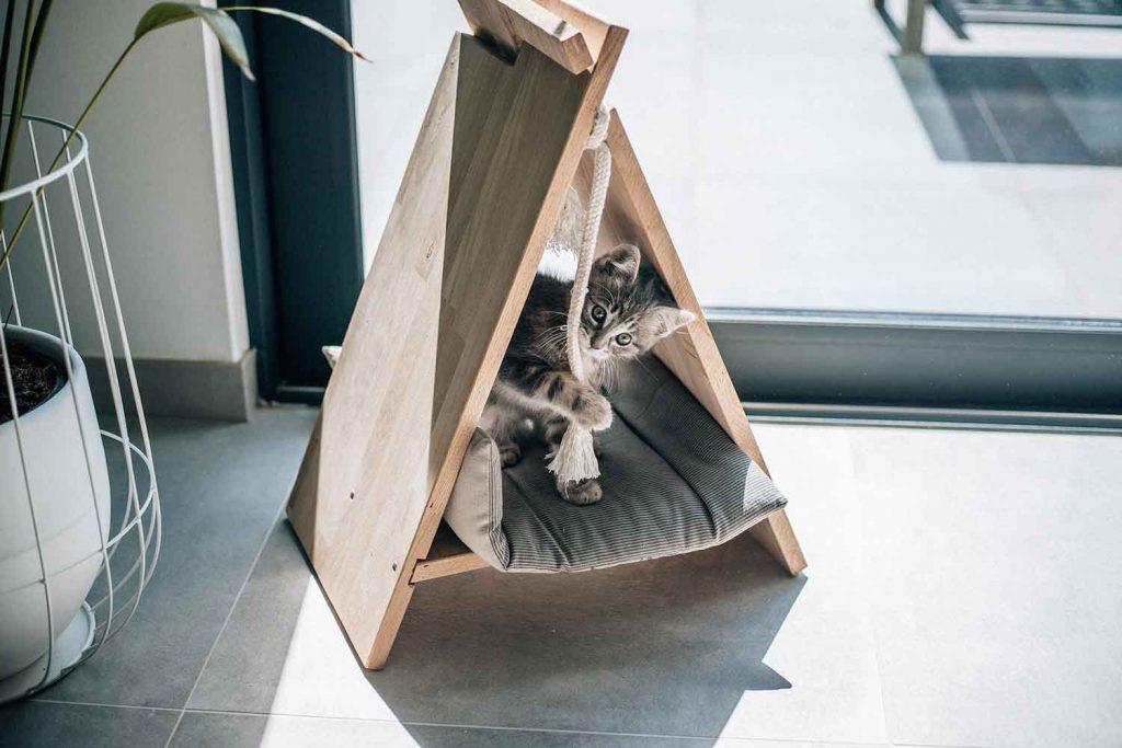 Een tipi voor je huisdier met Dremel